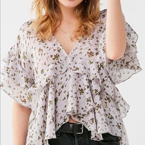 Urban Outfitters Plunging v neck blouse